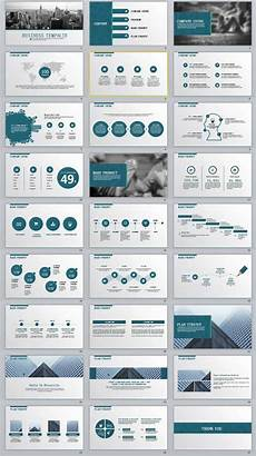 Powerpoint Template Professional 27 Business Report Professional Powerpoint Templates
