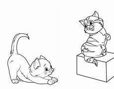 kostenlose malvorlage katzen zwei k 228 tzchen zum ausmalen