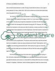 Ethical Dilemma Essay Example Ethical Dilemmas In Nursing Essay Example Topics And
