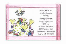 Lunch Invitation Message Ladies Luncheon By Invitation Consultants Nw Nwi2339