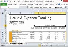 Expense Manager Excel Template Project Expense Tracker Template For Excel