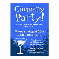Business Party Invitation Wording Blue Elegant Corporate Party Invitations Personalize Online
