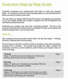 Resume Step By Step Guide 8 Evaluation Plan Templates Free Samples Examples