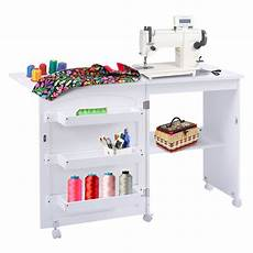 folding swing craft table shelves storage cabinet home