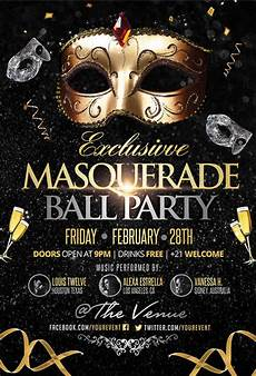 Masquerade Poster Template Party Flyer Examples Free Amp Premium Templates