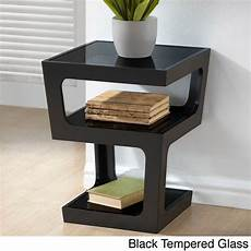 clara modern black 3 tiered end table overstock