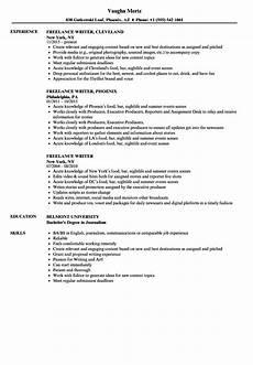Resumes For Writers Freelance Writer Resume Samples Velvet Jobs