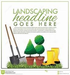 Landscaping Marketing Landscaping Marketing Template Stock Illustration