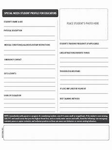 Profile Template Student Profile Form 2 Free Templates In Pdf Word