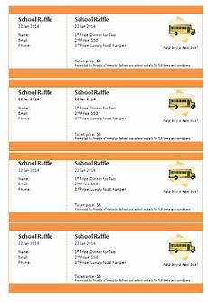 Template For Tickets With Numbers Print Numbered Tickets In Word Raffle Ticket Creator
