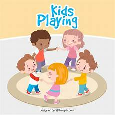 Children Playing Background Fantastic Background Of Children Playing Together Vector