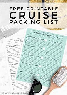 Pack This Checklist Printable Printable Cruise Packing List Free Printable Somewhat
