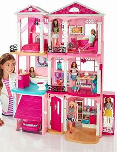 Barbie Doll House With Lights Barbie Dream House 3 Story Pink Doll House W Accessories