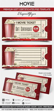 movie gift certificate psd printable by elegantflyer