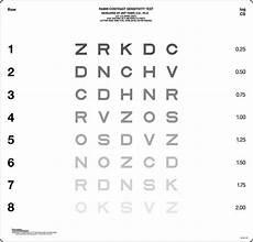 Contrast Sensitivity Chart Pdf Bailey Lovie Chart Set Precision Vision