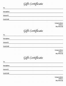Sample Gift Certificate Template Gift Certificate Template Blank Microsoft Word Document