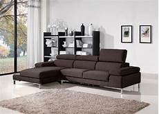 1103 modern brown fabric sectional sofa