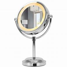Vanity Mirror With Lights Battery Adjustable Battery Operated Chrome Led Bathroom Cosmetic