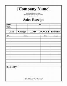 free sales receipt template 12 free sales receipt templates word excel pdf