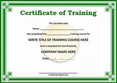 Certificate Of Training Template Free Training Certificate Template Free Word Templatesfree