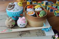 amigurumi food new crochet pattern bento family sushi set