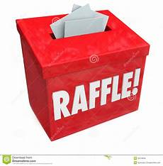 Drawing Raffle Tickets 50 50 Raffle Enter To Win Box Drop Your Tickets Stock