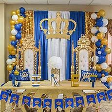 blue gold white balloons 37 pcs 12 navy for wedding
