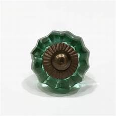 small mint green faceted glass cabinet knobs dresser