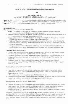 How To Write Grant Proposal Pdf How To Write A Great Research Grant Proposal
