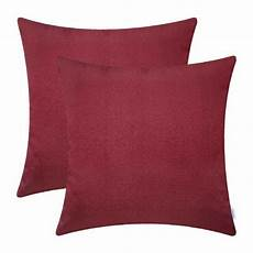 calitime 2 pack soft throw pillow covers cases for