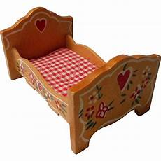 vintage wooden doll house bed germany from eleanorslegacy