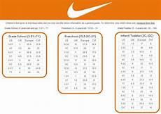 Nike Size Chart Inches Nike Size Guide Sole Mechanics