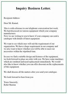 Inquiry Letter Template Free Sample Inquiry Business Letter Template With Example
