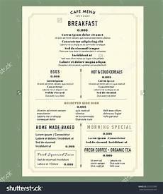 Breakfast Menu Layout Menu Design For Breakfast Restaurant Cafe Graphic Design