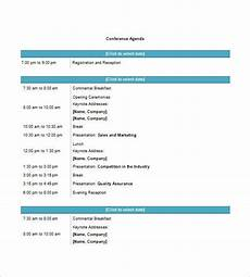 Word Template Agenda 8 Conference Agenda Templates Free Sample Example