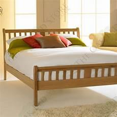 virginia light solid oak bed frame 4ft6 solid