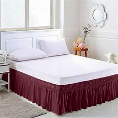solid color elastic bed skirt hollow ruffle bed cover