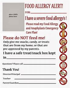 Allergy Chart For Child Care Thriving With Allergies Peanut Tree Nut Free Classroom