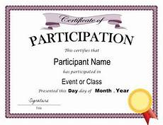 Sample Certificate Of Participation Certificate Of Participation Template In Pdf And Doc