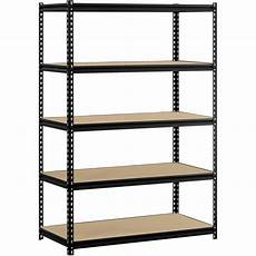 etagere metal rack 48 quot w x 24 quot d x 72 quot h 5 shelf steel shelving