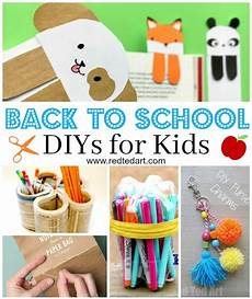 back to school diy ideas stationery crafts ted