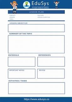 Lesoon Plan Cbse Lesson Plans 2020 5 Sample Format Templates