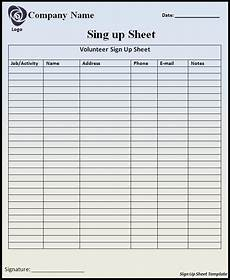 Free Template For Sign Up Sheet Sign Up Sheet Template Professional Word Templates