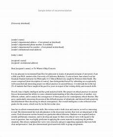 Letter Of Recommendation College Sample Free 8 Sample College Recommendation Letters In Pdf Ms Word