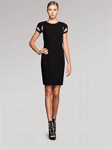 lyst gucci cutout shortsleeve dress in black