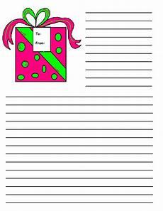 Christmas Themed Writing Paper Christmas Printable Writing Paper