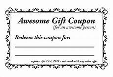 Free Lunch Coupon Template Homemade Coupon Templates 23 Free Pdf Format Download