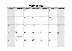 2020 calendar templates with holidays printable 2020 monthly calendar templates calendarlabs