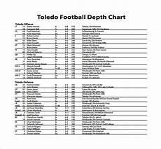 9 Football Depth Chart Templates Doc Pdf Excel Free