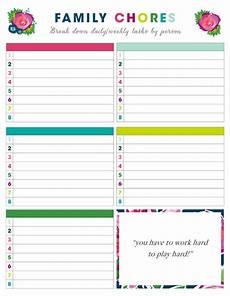 Daily And Weekly Chore Chart Free Printable Weekly Chore Charts